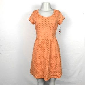 MAISON JULES Orange Polka Dot Dress Sz XS